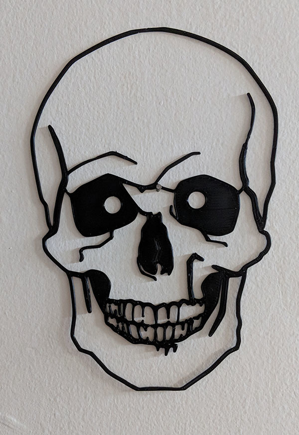 skullcurves.jpg Descargar archivo STL Skull Wall (curves) • Diseño para impresión en 3D, miguelonmex