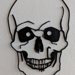 skullcurves.jpg Download STL file Skull Wall (curves) • 3D printing template, miguelonmex