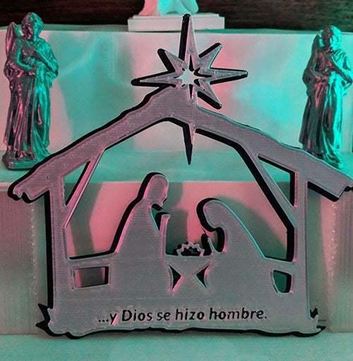 nacimientoToTh1.jpg Descargar archivo STL gratis El nacimiento de Jesús. Montado en la pared • Objeto para imprimir en 3D, miguelonmex