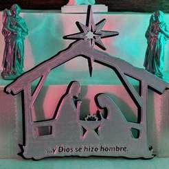 nacimientoToTh1.jpg Télécharger fichier STL gratuit La naissance de Jésus. Montage mural • Design imprimable en 3D, miguelonmex