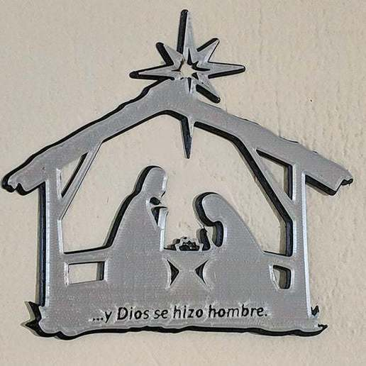 nacimientoToTh.jpg Descargar archivo STL gratis El nacimiento de Jesús. Montado en la pared • Objeto para imprimir en 3D, miguelonmex