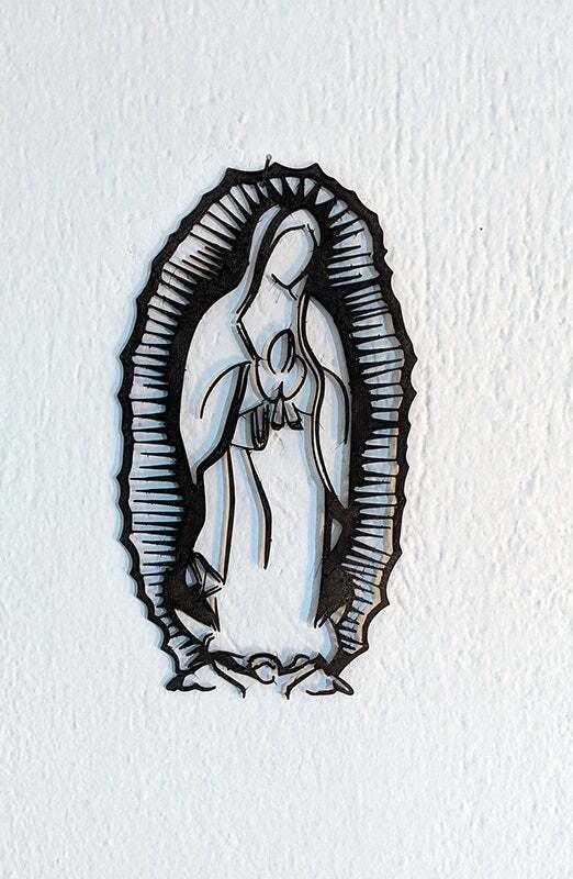 vdegpeToTh.jpg Descargar archivo STL gratis Virgen de Guadalupe. Montado en la pared... • Modelo imprimible en 3D, miguelonmex