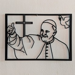 papa.jpg Download STL file Pope Francis for wall. • 3D print object, miguelonmex