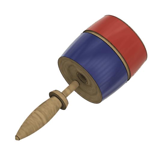 1a.png Descargar archivo STL Balero Tradicional Mexicano • Modelo para imprimir en 3D, miguelonmex