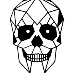 Download free STL file Skull 2D (self option) • Design to 3D print, miguelonmex