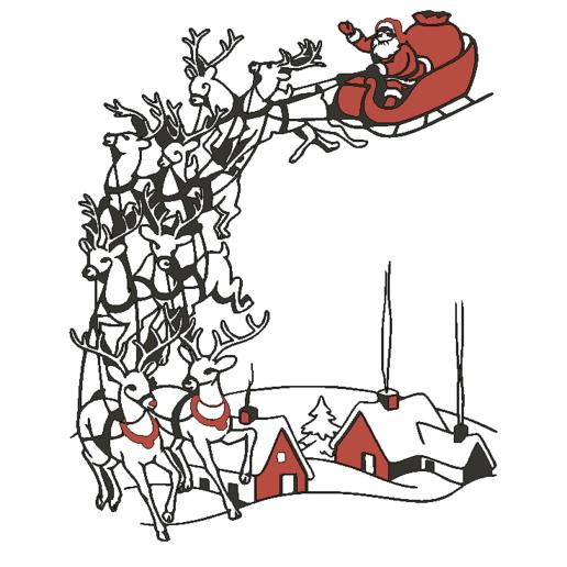 Santa1toTh.png Descargar archivo STL gratis El trineo de Santa montado en la pared • Modelo para la impresión en 3D, miguelonmex