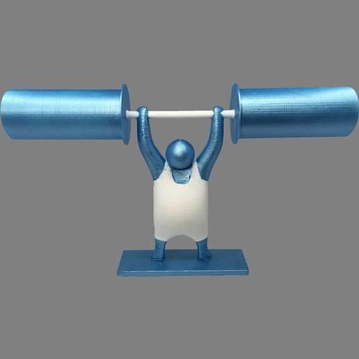 Imprimir en 3D gratis Soporte papel WC haltérophile, jeanmi681