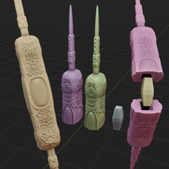 22.png Download STL file Knife Gamora • Model to 3D print, AriAcosta