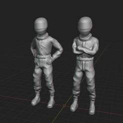 Descargar modelo 3D Race drivers, 3DUNIVERSE