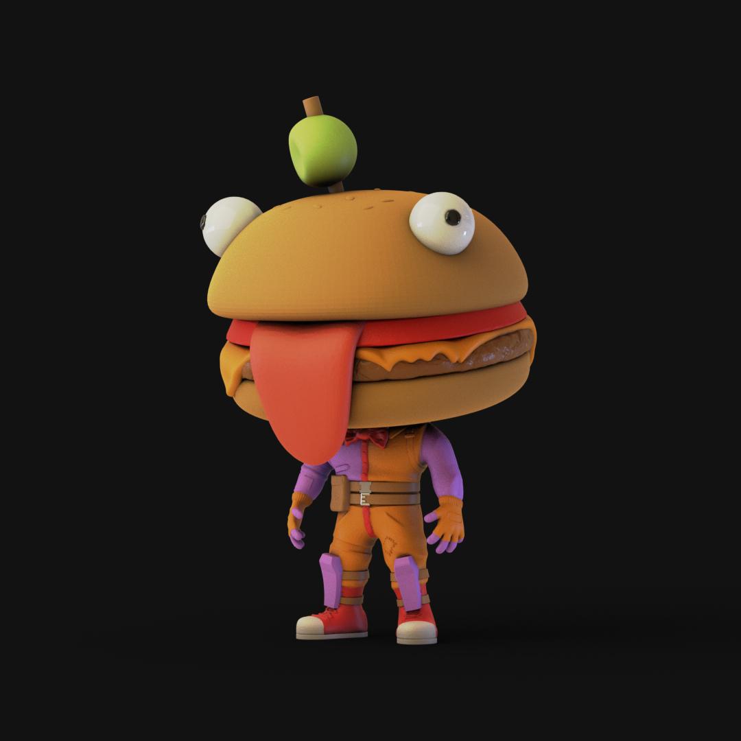 Download Stl File Fortnite Burger Funko 3d Printing Object Cults · durr burger from fortnite, who else loves fortnite! download stl file fortnite burger funko