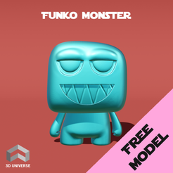 Download free STL files Funko Monster, 3DUNIVERSE