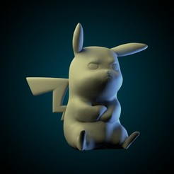 ig 18.jpg Download STL file Pikachu Angry • Template to 3D print, AriAcosta