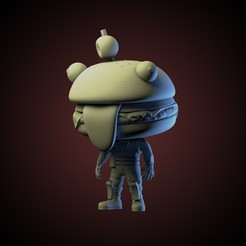ig 5.jpg Download STL file Fortnite Burger Funko • 3D printing object, AriAcosta