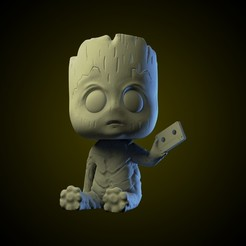 ig 17.jpg Download STL file Baby Groot funko style • Design to 3D print, AriAcosta
