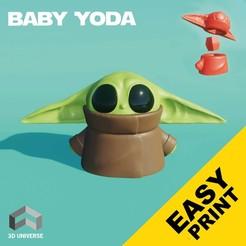 Descargar STL Baby Yoda estilizado , 3DUNIVERSE