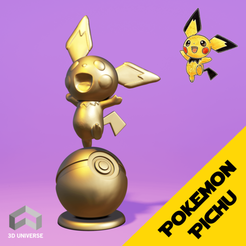 10.png Download STL file Pokemon Pichu • 3D printer design, AriAcosta