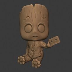 Télécharger fichier impression 3D gratuit Le style funko de Baby Groot, 3DUNIVERSE
