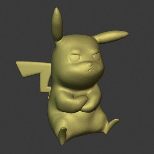 Télécharger fichier STL gratuit Pikachu en colère, AriAcosta3D