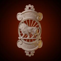 ig 35.png Télécharger fichier STL Logo Peugeot • Plan imprimable en 3D, AriAcosta