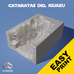 Télécharger plan imprimante 3D Chutes d'Iguazu, 3DUNIVERSE
