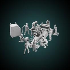 ig 28.jpg Download STL file Mechanics + F1 drivers • 3D printing template, AriAcosta
