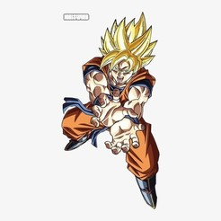 Télécharger fichier 3D Goku supersaiyan, thecriws