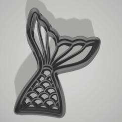 Download STL Cookie Cutter mermaid Siren, juanaysimongillig