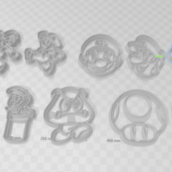 Download 3D printing models Set x10 Super Mario Bross Cookie Cutter, juanaysimongillig