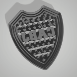Télécharger STL Coupe-biscuits Boca Juniors, juanaysimongillig