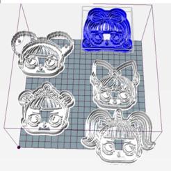 Descargar diseños 3D LOL x5 SET Cookie Cutter, juanaysimongillig