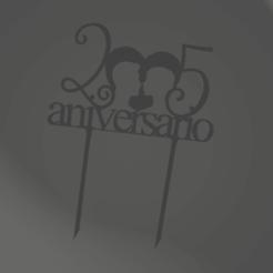 Download free 3D printer files Silver Jubilee - 25th Anniversary - Topper, juanaysimongillig
