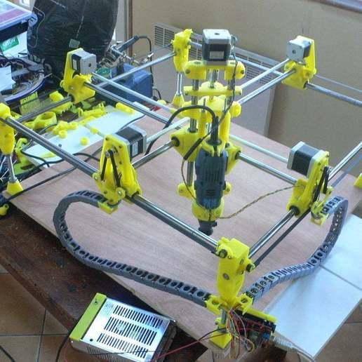 Download free 3D printer templates CNC remix Mostly Printed CNC, cgilabert