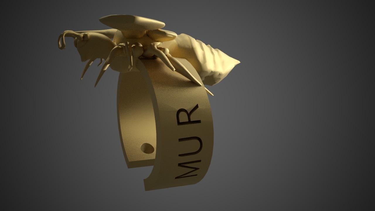 MURDER HORNET BRACELET4.jpg Download free STL file Murder Hornet Bracelet • 3D printable template, swivaller