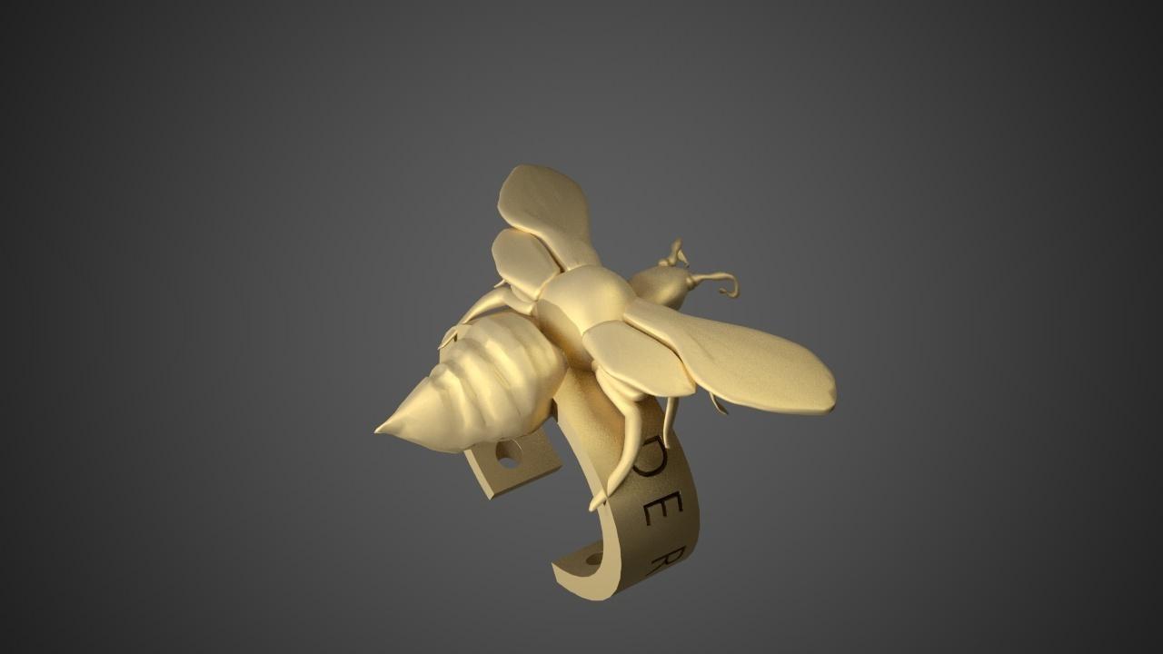 MURDER HORNET BRACELET1.jpg Download free STL file Murder Hornet Bracelet • 3D printable template, swivaller