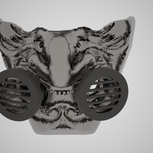samauri mASk image.jpg Download STL file Samurai N95 respirator (CUSTOM) • 3D printer model, swivaller