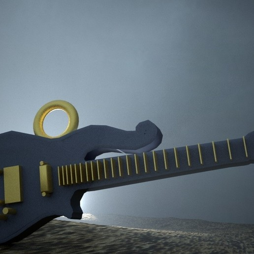 Download free 3D print files GUITAR PENDANT, swivaller