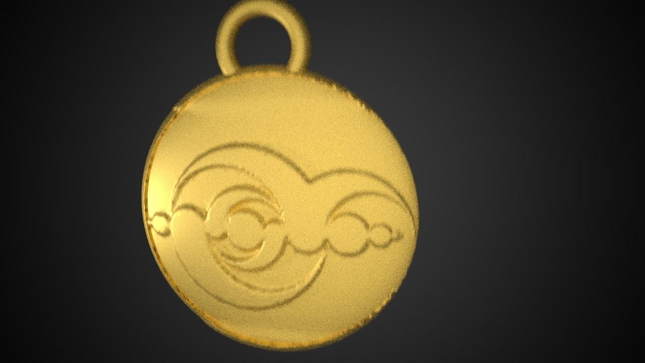 crop circle1dot2.jpg Download free STL file Crop circle medallion • 3D printable model, swivaller