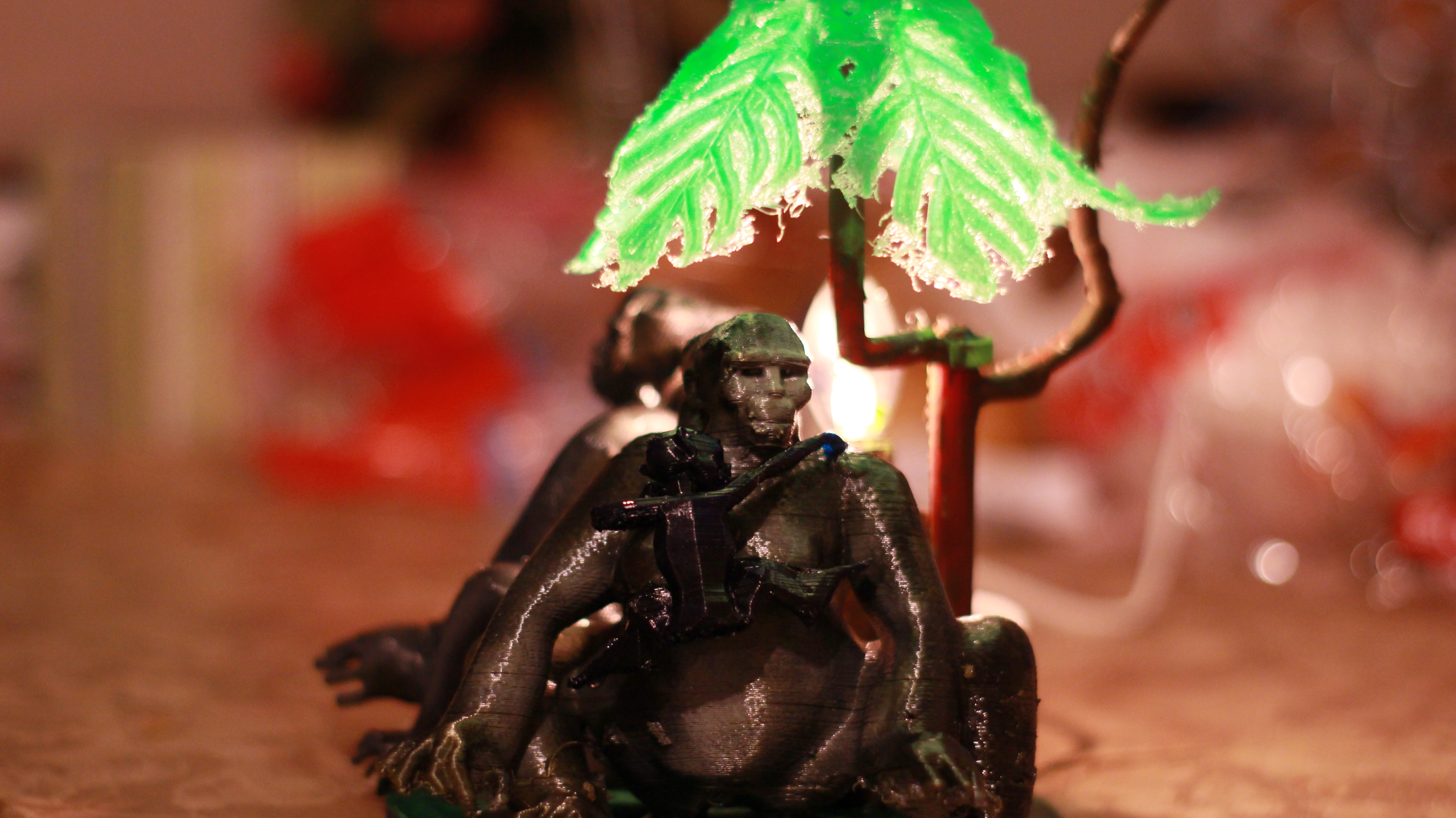 IMG_4060.JPG Download OBJ file Gorilla lamp • 3D printing template, swivaller