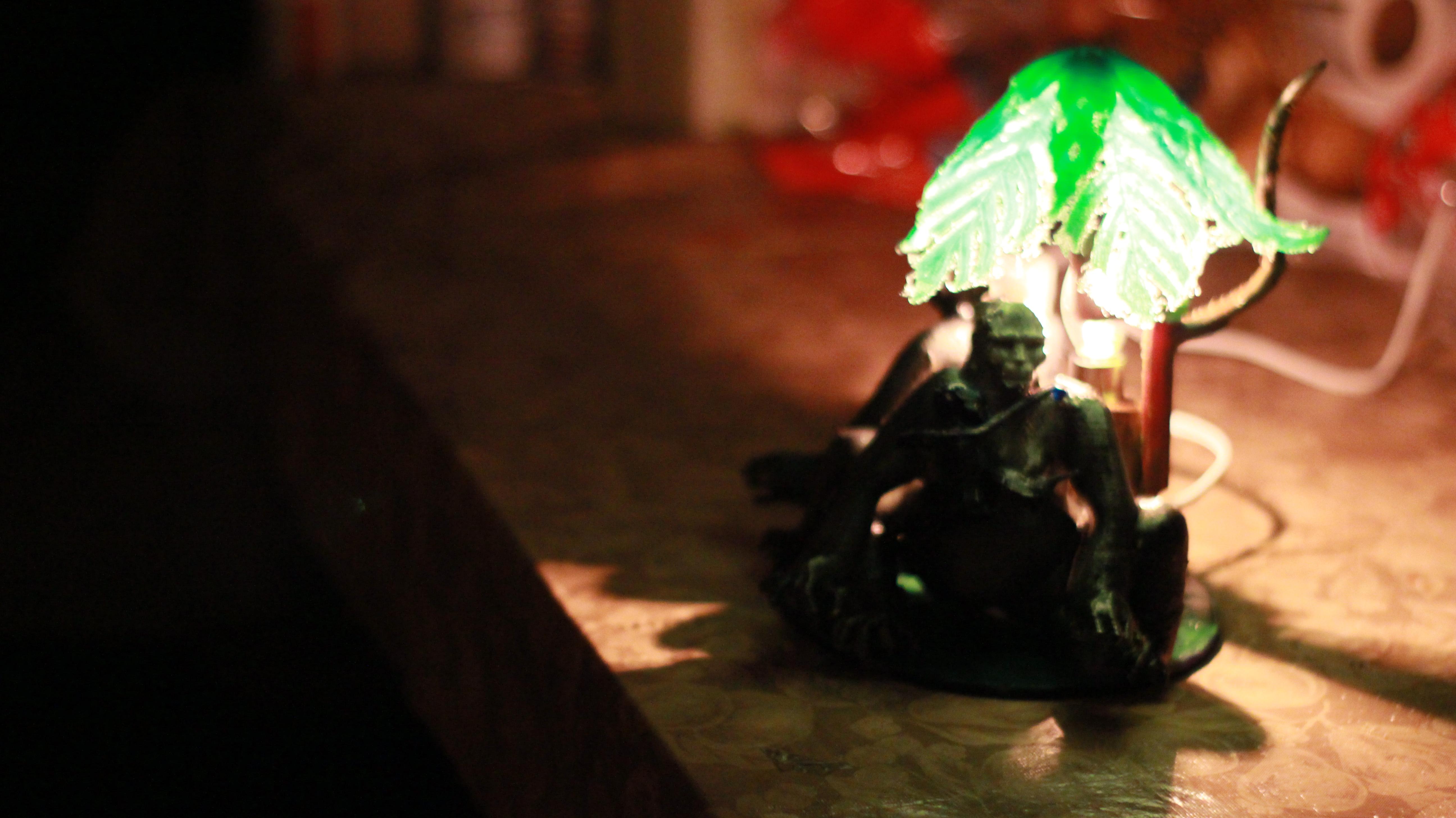 IMG_4057.JPG Download OBJ file Gorilla lamp • 3D printing template, swivaller
