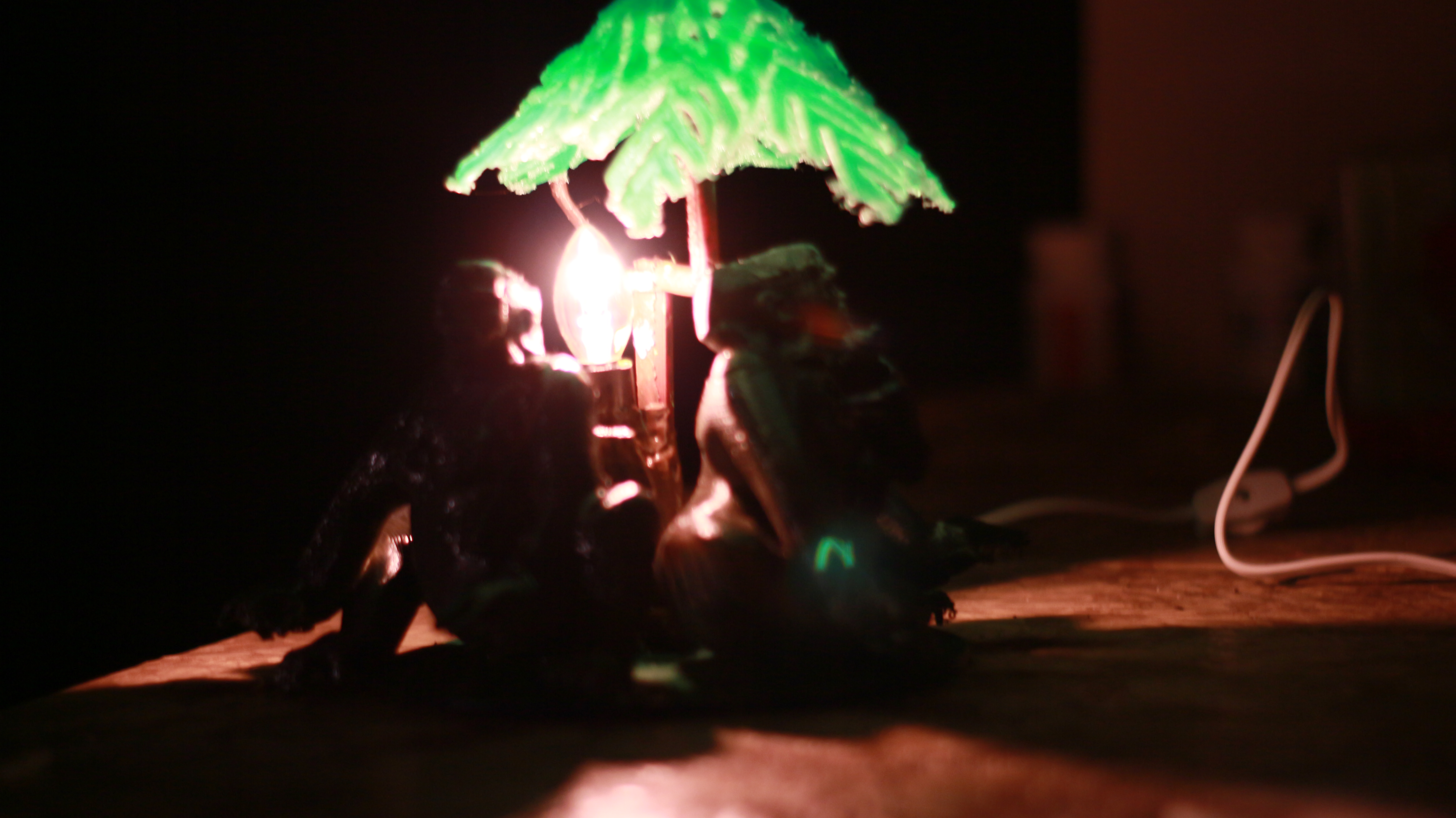 IMG_4047.JPG Download OBJ file Gorilla lamp • 3D printing template, swivaller