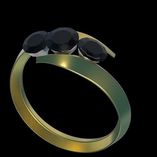 ring.jpg Download free STL file 3 diamond ring • Object to 3D print, swivaller