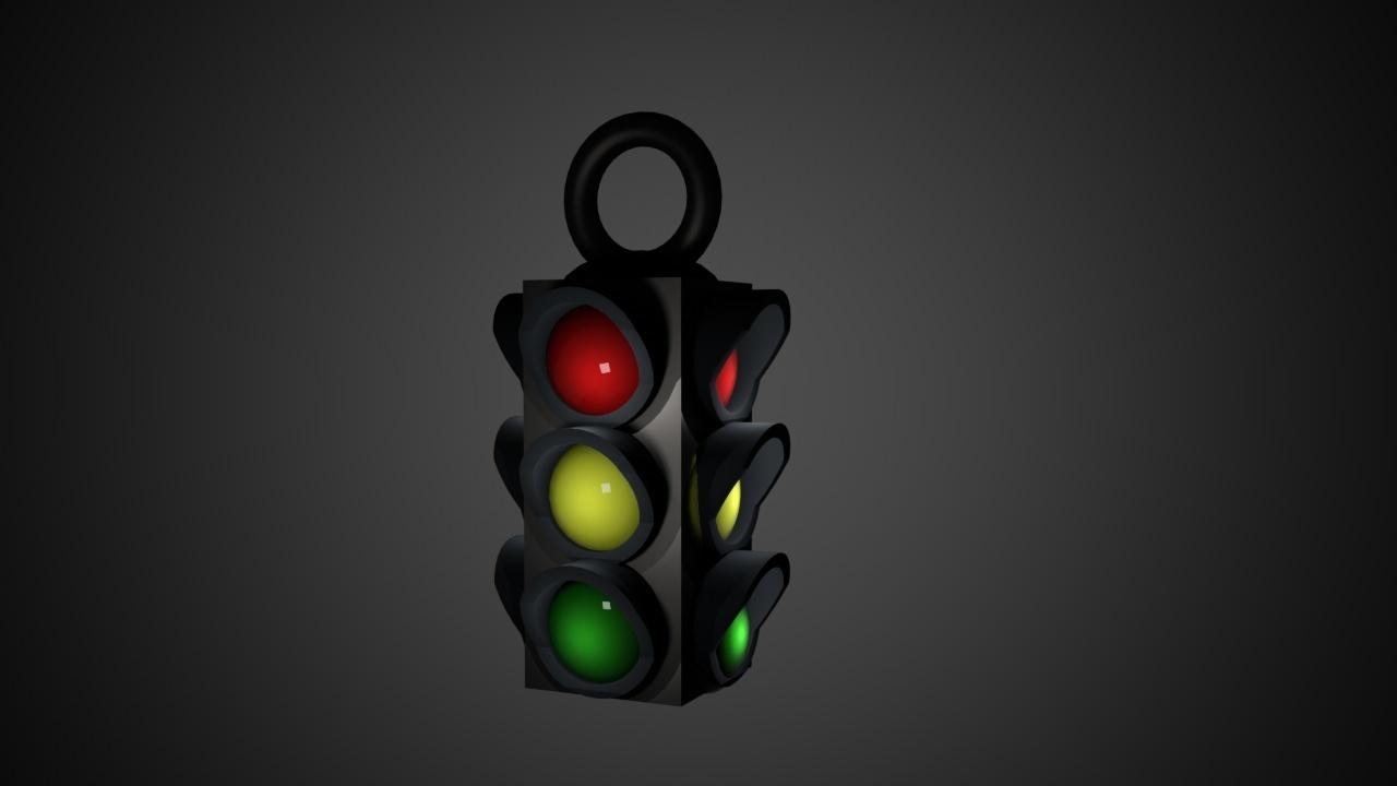 signal light 3d.jpg Télécharger fichier STL gratuit Charme des feux de signalisation (travaux en cours) • Objet pour imprimante 3D, swivaller