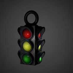 signal light 3d.jpg Download free STL file Street signal light charm (work in progress) • 3D printing template, swivaller