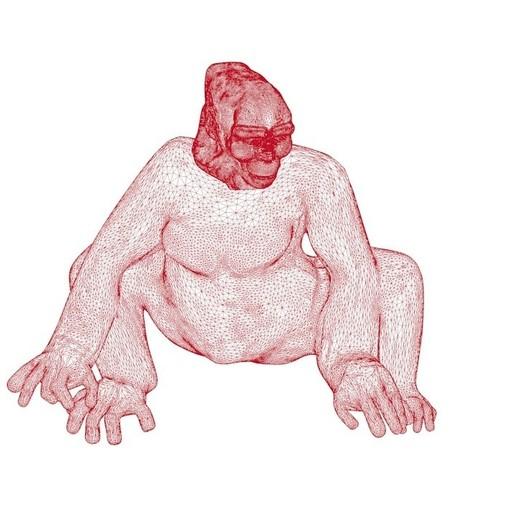 GORILLA wire.jpg Download OBJ file Gorilla lamp • 3D printing template, swivaller