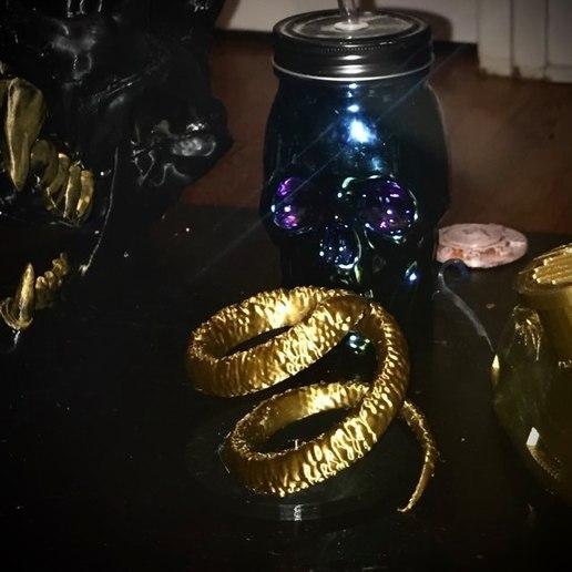 Télécharger plan imprimante 3D gatuit bracelet de serpent, swivaller
