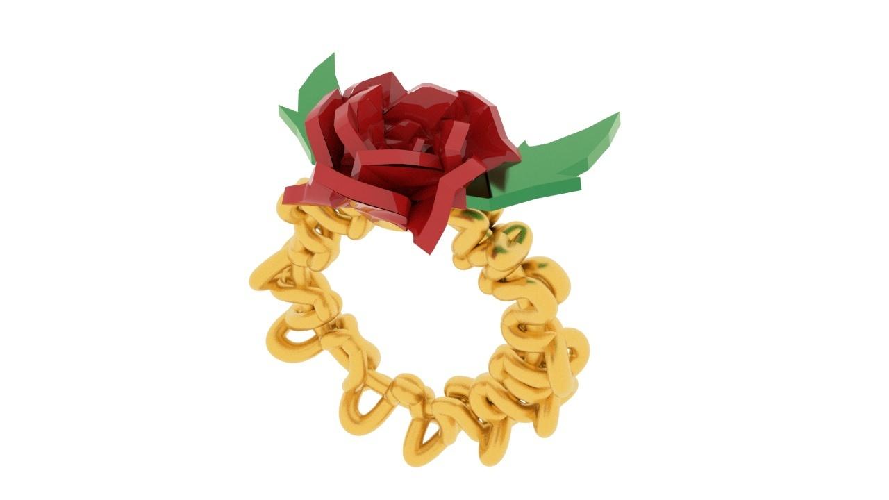 rose ring.jpg Télécharger fichier STL gratuit Bague de rose • Design imprimable en 3D, swivaller
