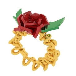 Download free STL Rose Ring, swivaller
