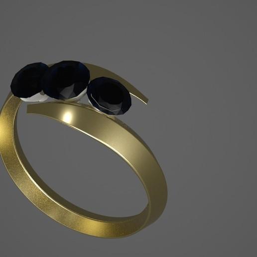 ring3.jpg Download free STL file 3 diamond ring • Object to 3D print, swivaller