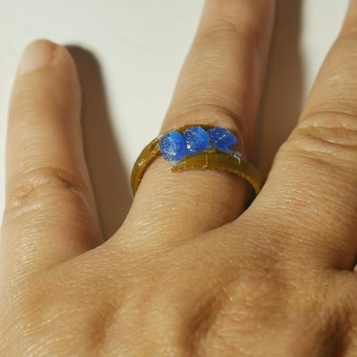 ring 1.jpg Download free STL file 3 diamond ring • Object to 3D print, swivaller