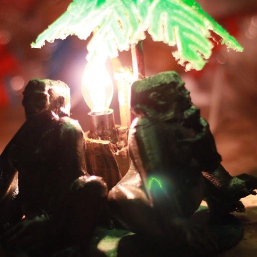 IMG_4050.JPG Download OBJ file Gorilla lamp • 3D printing template, swivaller